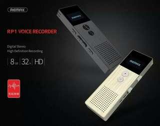 Remax Perekam Suara Digital Meeting Voice Recorder - Black