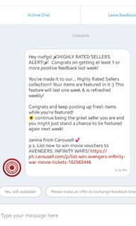 Highly rated seller and proof of delivery 😊