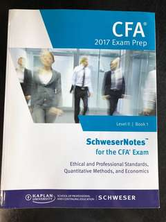 CFA Level  II 2017 Exam Prep Book 1
