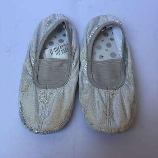 H&M silver ballet shoes