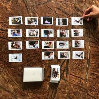 Instax film printing