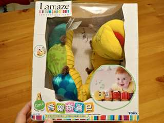 正品 Lamaze 拉梅茲 嬰幼兒玩具 音樂布蟲尺 感統玩具 安撫玩偶  音樂鈴玩偶