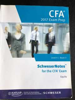 CFA Level  II 2017 Exam Prep Book 3