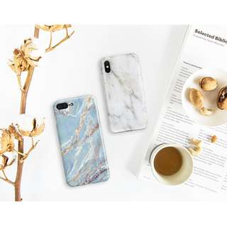 OW90  Gold Cracks Marble iphone x casing iphone 7 iphone 8