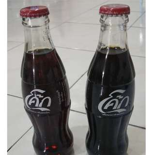 2006 thailand cola cola glass bottle