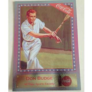 1995 Coca Cola Series 4 - Don Budge 1947 - Chase Card #SF-7 (All Time Sports Favorite)