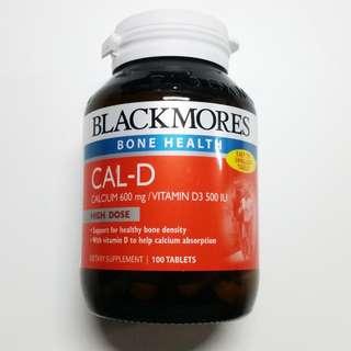 New Blackmores Calcium + Vitamin D3 100 Tablets