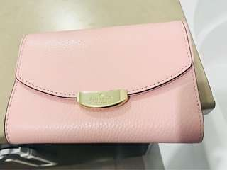 Kate Spade Mulberry Street Leather Wallet in Pink