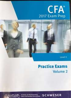 CFA 2017 Level II Exam Prep Practice Exams Volume 2
