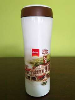 Super White Coffee Stainless Steel Tumbler 235 ml