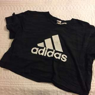 New Adidas black crop top