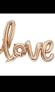 4 love foil balloons