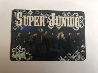 絕版 super junior 膠卡
