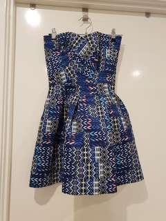 BLUE ELASTIC DRESS   SIZE 6