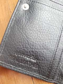Accessorize real leather wallet