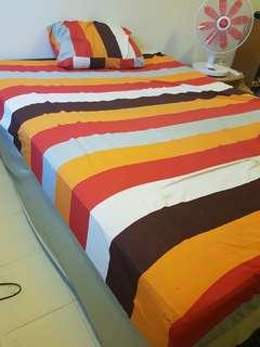 IKEA Bed base & Mattress (Queen size)