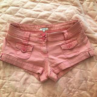 Valleygirl Mini Pink Denim Shorts
