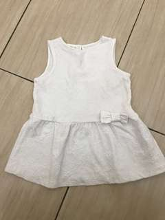 6-9mo zara white dress
