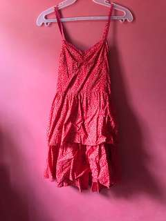 Forever 21 Red Dress with White Details