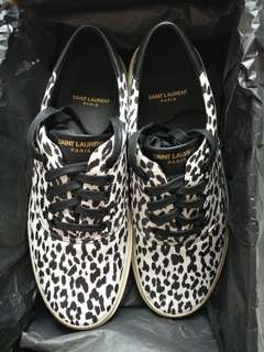 Saint Laurent Paris Baby Cat Print Leather Sneaker