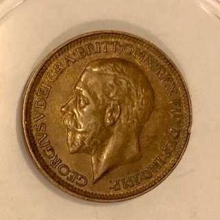 1933年喬治五世硬幣