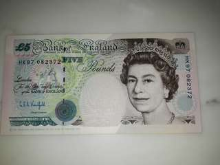 Significance of the issue of the HK97 £5