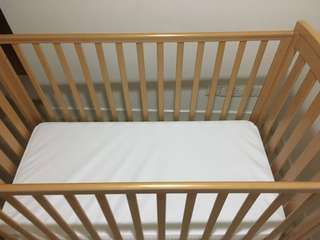 Baby Cot & Waterproof Mattress (MotherCare)