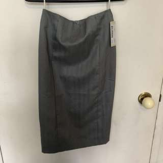 Grey pinstripe skirt