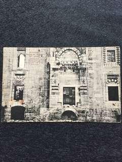Turkey 1911 Smyrna Ephese Facade de l'Eglise St Jean Postcard Used, fm Smyrna to USA. Stamp missing