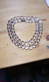 天然白水晶頸鏈#093
