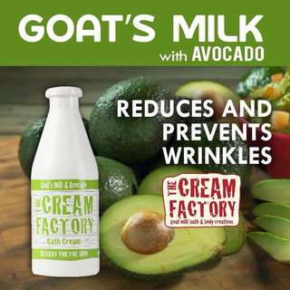 The Cream Factory Goat's Milk Bath Cream