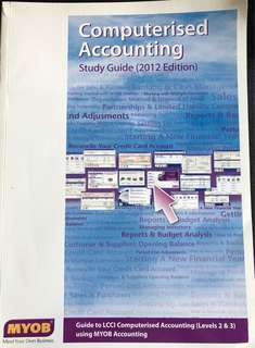 Computerised Accounting Study Guide 2012 edition