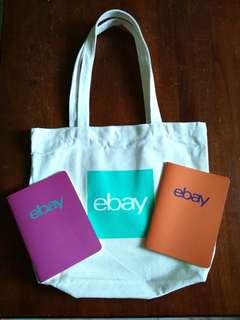 eBay Merchandise - Eco-bag + 2 Notebooks