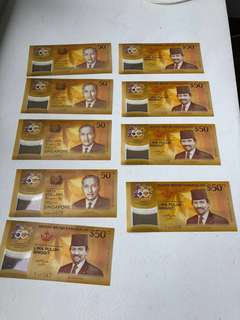 Only $2 above spot per note - Singapore Brunei CIA $50