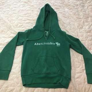 Abercrombie Green Hoodie Jumper