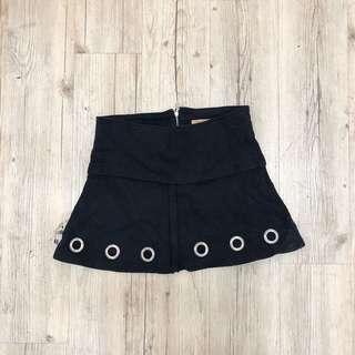 🚚 黑色 棉 圈圈 辣妹 短裙 ZARA 古著 二手