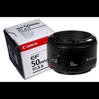 Lensa FIX canon 50 mm f/1.8