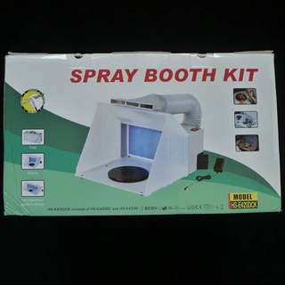 Brand New Foldable Spray Booth for airbrushing with air extraction fan - Non LED Light Version