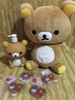 Rilakkuma stuffed toy bundle