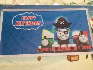 Thomas and Friends Birthday Tarpaulin