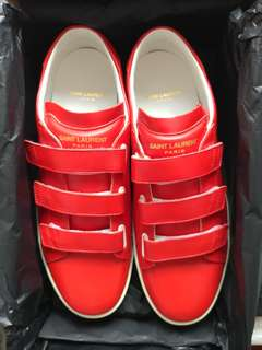 Saint Laurent Paris 紅色真皮低筒sneaker
