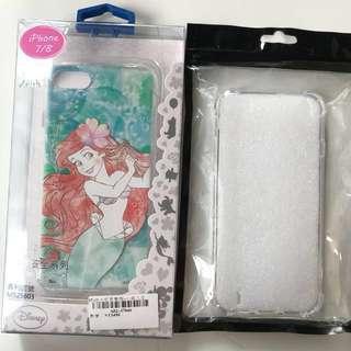特價200元包含運費 Iphone7 8 (小美人魚、透明)空壓殼4.7吋手機套 一組2個