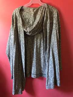 H&M Gray Sweater with Hood