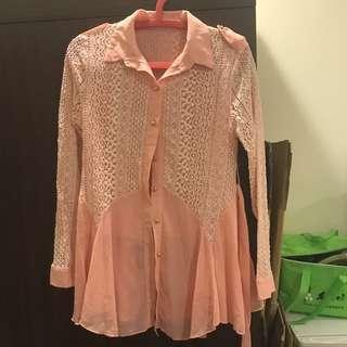 🚚 甜美蕾絲襯衫