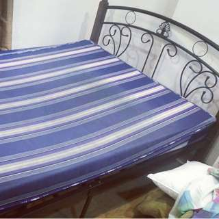 Twin size bed rack + thick Uratex mattress (2 years old)