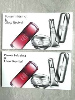 Shiseido Ultimune Power Infusing Concentrate, Bio-performance Glow Revival Serum, Bio-performance Glow Revival Cream, and Bio-performance Glow Revival Eye Treatment