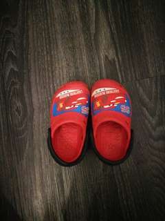 Baby toddler shoes crocs alike red slip on