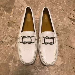BN leather white Nine West shoes loafers