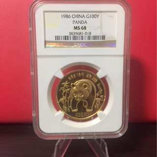 Panda 1986 1oz .999 gold
