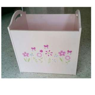 Toys Keeper/Bin for Children's / Toddler's / Baby's room (Girl)) - Pink - Sweet - Solid Wood